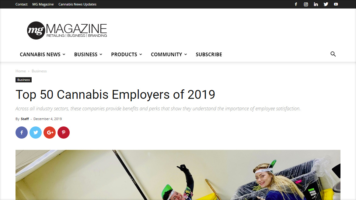 Top 50 Cannabis Employers o f2019