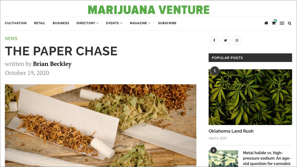 Marijuana Venture | The Paper Chase