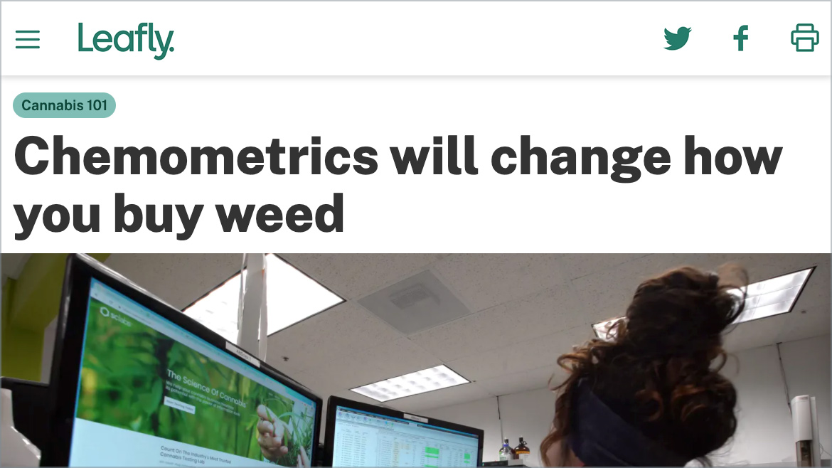 Chemometrics will change how you buy weed